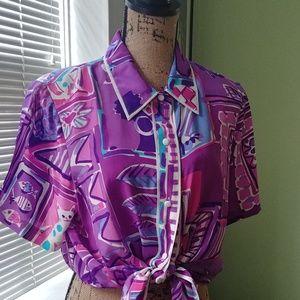 Vintage 1990s Bob Mackie Silk Blouse